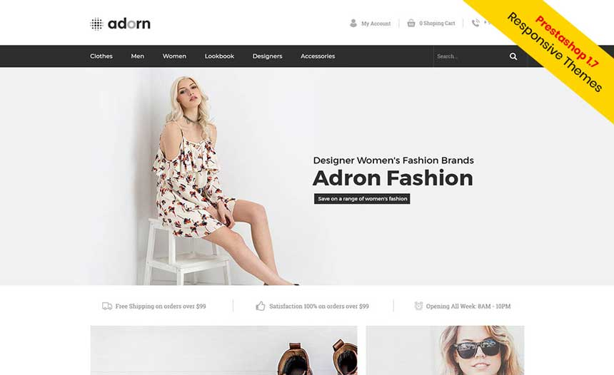 [Free Prestashop 1.7 Themes]  Fashion - Clothes Prestashop  1.7 Themes For a free