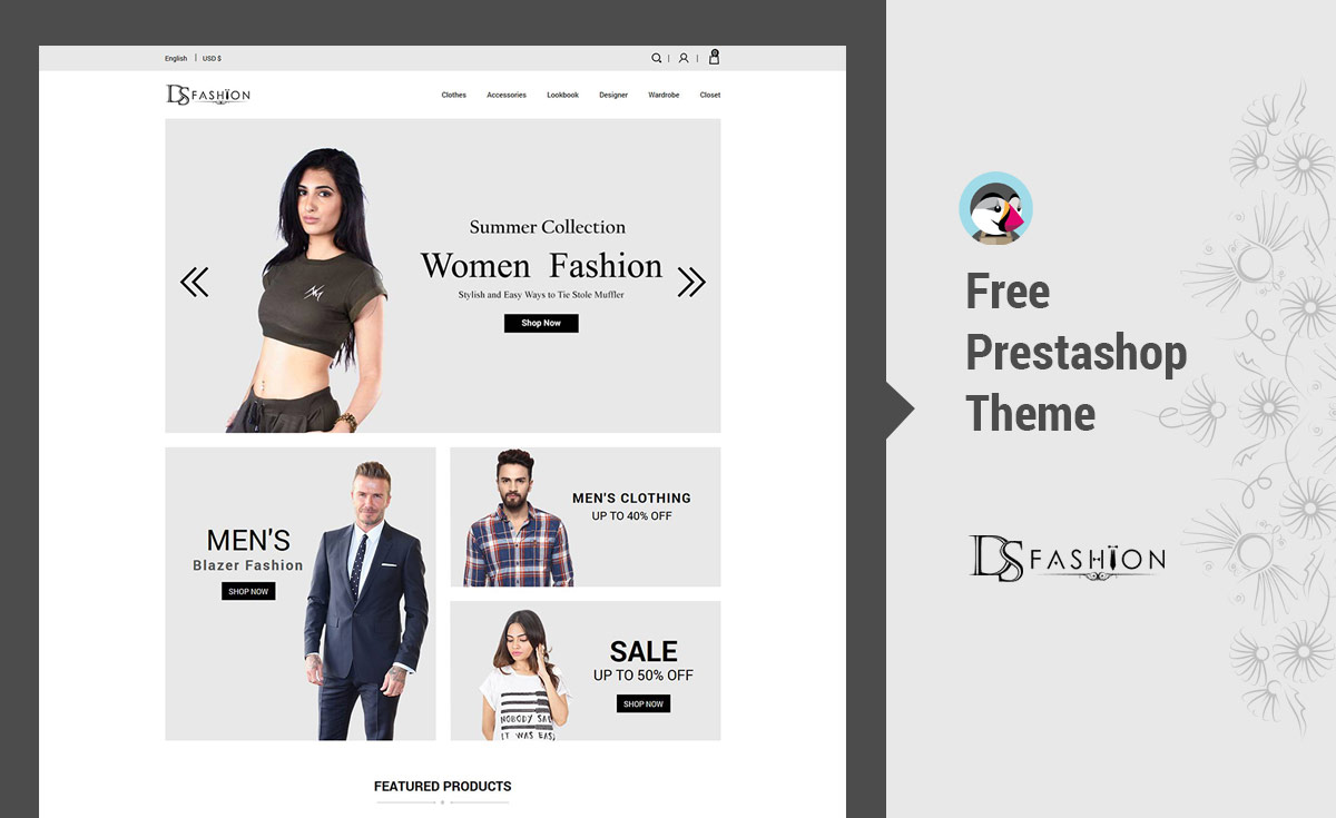 [Prestashop Free  Themes] Fashion - Greylook Women Free  Prestashop Themes